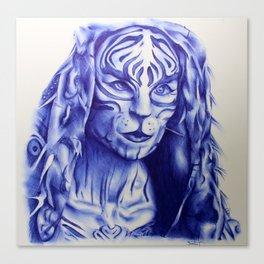 MJ Part 2 - Tigris Ballpoint Pen Sketch Canvas Print