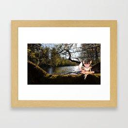 Lakeside Meditation Framed Art Print