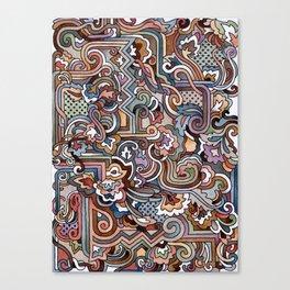 Rayas y rulos Canvas Print