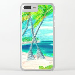 caribe beach and garden Clear iPhone Case