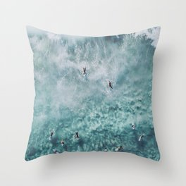 lets surf xx Throw Pillow