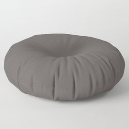Dark Chocolate Brown Solid Color Pairs To Benjamin Moore Silhouette AF-65 Floor Pillow