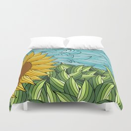 SUNNY DAY (abstract flowers) Duvet Cover