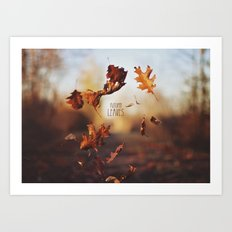 Autumn leaves as quickly as it arrives. Art Print