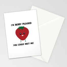 I'm Berry Pleased You Could Meet Me! Stationery Cards