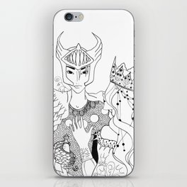 The Knight and her Queen iPhone Skin