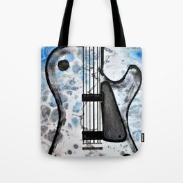 Guitar Art. Abstract Guitar. Rock and Roll. Gibson Guitar. Tote Bag