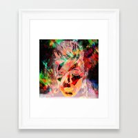 bowie Framed Art Prints featuring Bowie by Joel Mata