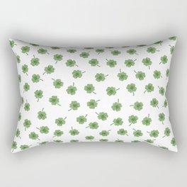Light Green Clover Rectangular Pillow