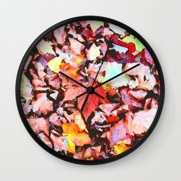 Maple foliage texture Wall Clock