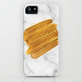 Gold on Marble iPhone Case