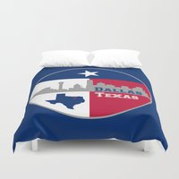 dallas Duvet Covers featuring Dallas Texas Skyline by Bruce Stanfield