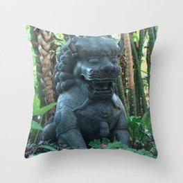 Guardian Lion Photograph Throw Pillow