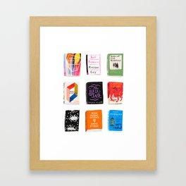 Library Still Life Framed Art Print
