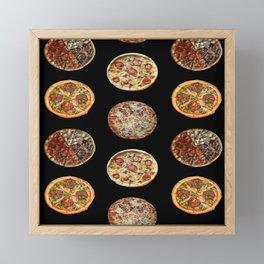 65 MCMLXV Pizza Polka Dot Pattern Framed Mini Art Print