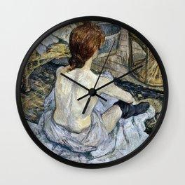Henri De Toulouse Lautrec - Rousse Wall Clock