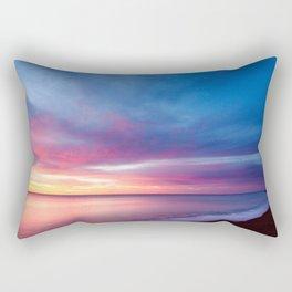 Pink Cotton Candy Sunset Rectangular Pillow