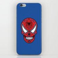 superheros iPhone & iPod Skins featuring Spidey Sugar Skull by Clark Street Press