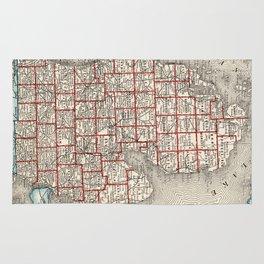 Vintage Map of Michigan (1893) Rug