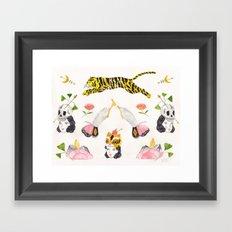 Les Tigres Framed Art Print