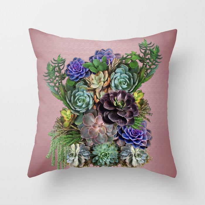 Succulent gardens Throw Pillow