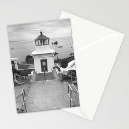 Trinidad Harbor Lighthouse  B&W  Stationery Cards