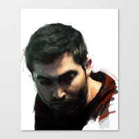 derek hale Canvas Prints featuring Derek by @cuisle