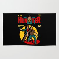 comic Area & Throw Rugs featuring Hunter Comic by harebrained
