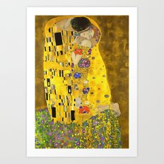 The Lovers Kiss After Klimt Art Print