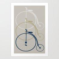bikes Art Prints featuring Bikes by deugeniodesigns