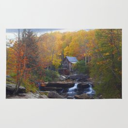 Glade Creek Mill in Autumn Rug