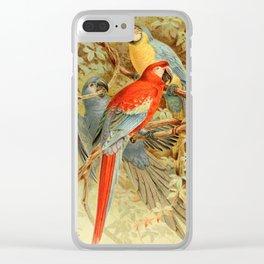 Royal Natural History 1893-1896 - JCK (Macaws) Clear iPhone Case