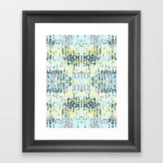 Spring Rain Tribal Framed Art Print