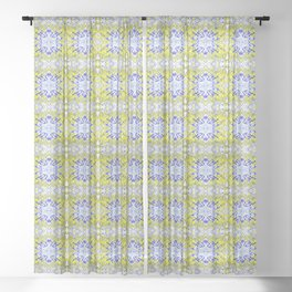 Fighting Hornet OG Pattern Sheer Curtain