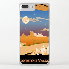 Monument Moon2 Clear iPhone Case