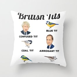 Funny Bird watching British Tits Gift Men & Women Throw Pillow