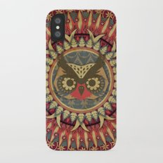 Vintage Owl iPhone X Slim Case