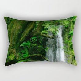 Waterfall in Azores islands Rectangular Pillow