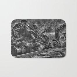 Manipulated Steam Train Image Bath Mat
