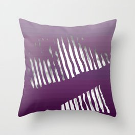 Purple Zebra Throw Pillow