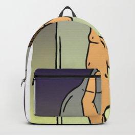 Girl in Bottle Backpack