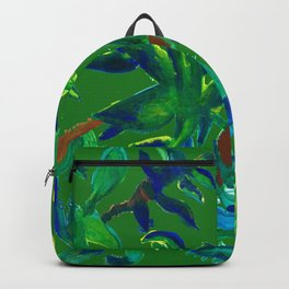 Cactus Abstract With Background Backpack