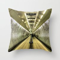 velvet underground Throw Pillows featuring Underground by Svetlana Sewell