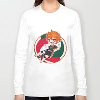 haikyuu Long Sleeve T-shirts featuring Hinata Chibi by Kuroharra