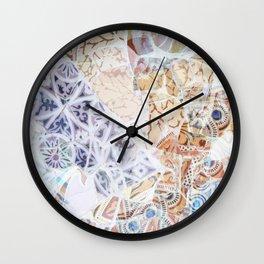 Mosaic of Barcelona IX Wall Clock