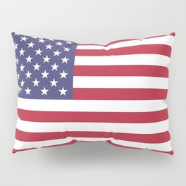 USA flag - Hi Def Authentic color & scale image Pillow Sham