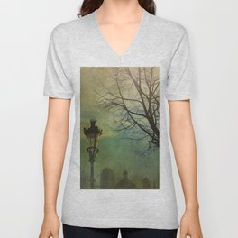 Once Upon a time a park in Barcelona Unisex V-Neck