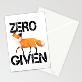 Zero Fox! Stationery Cards