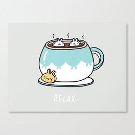 Marshmalunny Cocoa Canvas Print