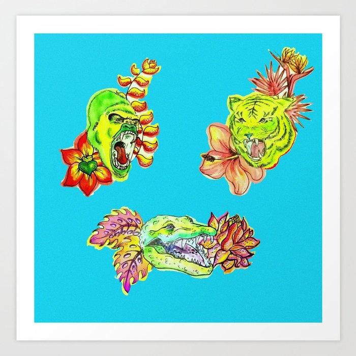 Green graow Art Print